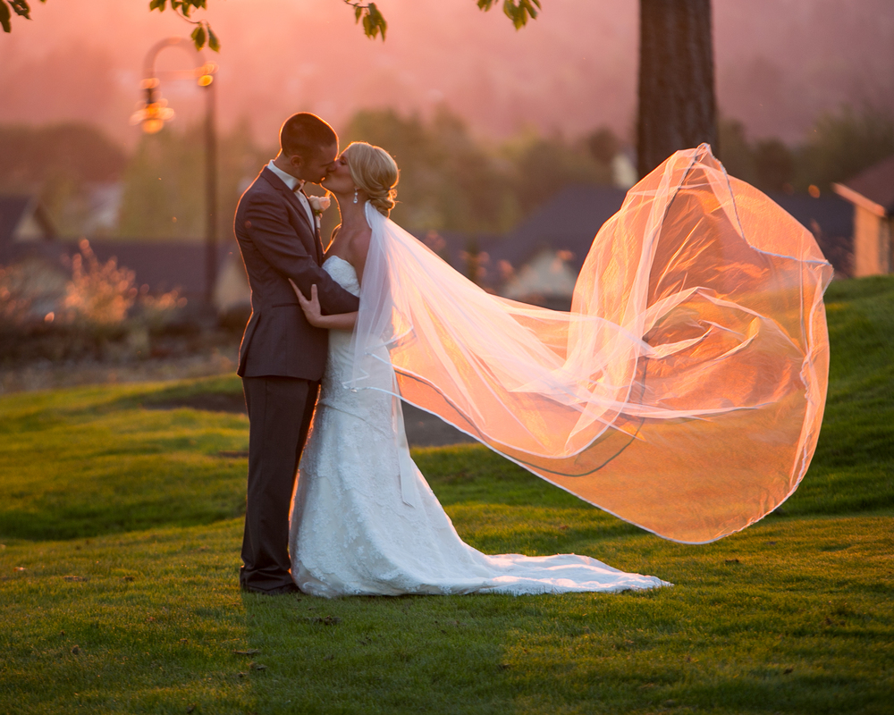 Romantic Photo Backdrops at The Aerie at Eagle Landing - Wedding Venue Happy Valley, Oregon