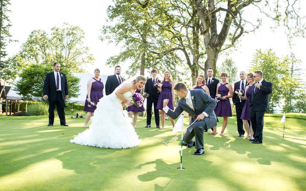 Hole In One at The Aerie at Eagle Landing - Wedding Venues Happy Valley, Oregon