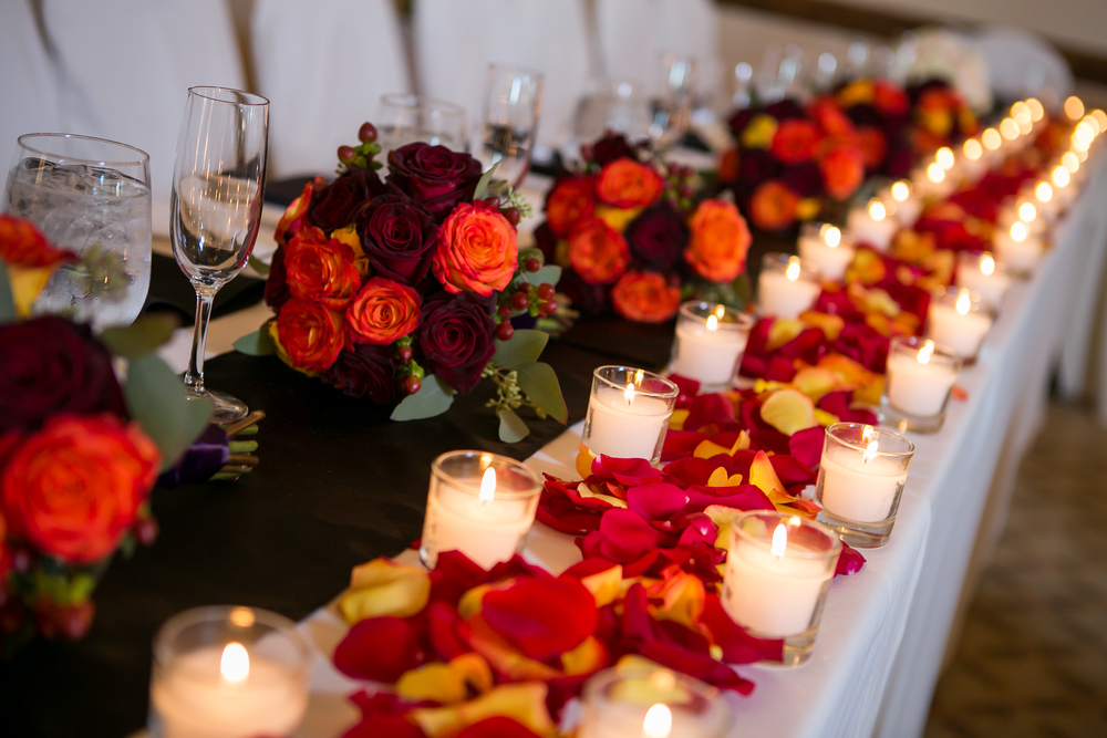 Colorful Reception in The Grand Ballroom at The Aerie at Eagle Landing - Wedding Venues Happy Valley, Oregon