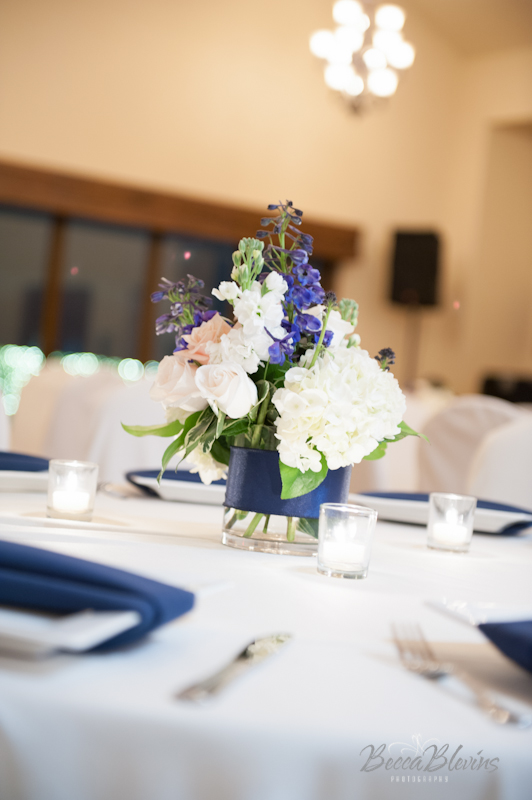 Aerie Centerpieces in The Grand Ballroom at The Aerie at Eagle Landing - Wedding Venue Happy Valley, Oregon