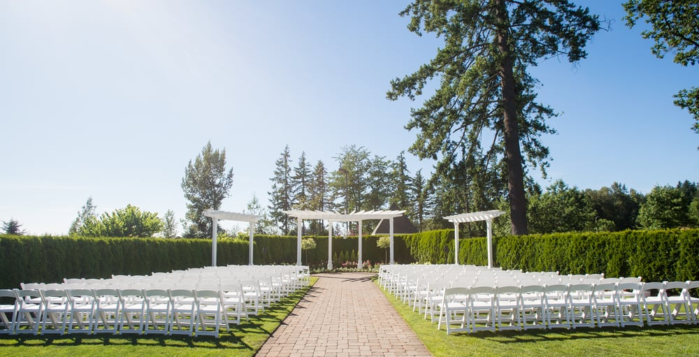 The Bellevue Gardens - Our breath-taking garden is a guest favorite for wedding ceremonies.