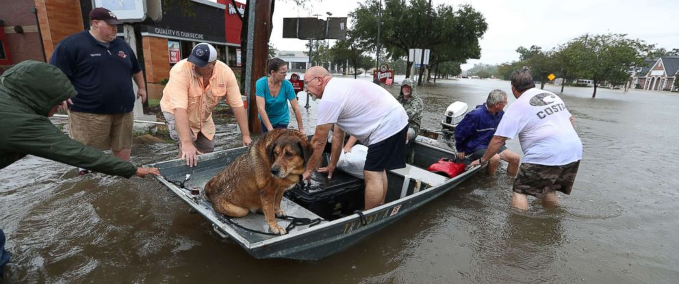 Who can help people survive massive flooding in Coastal Texas?