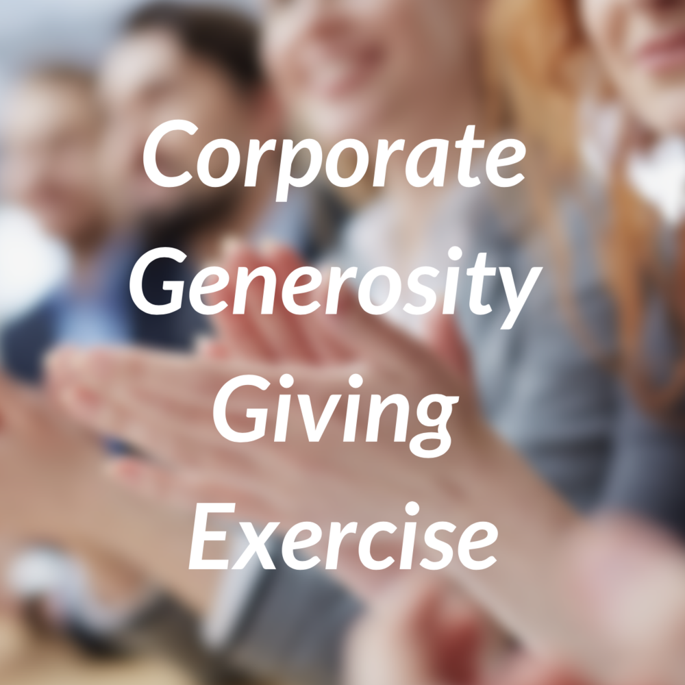 Corporate Generosity Giving Exercise