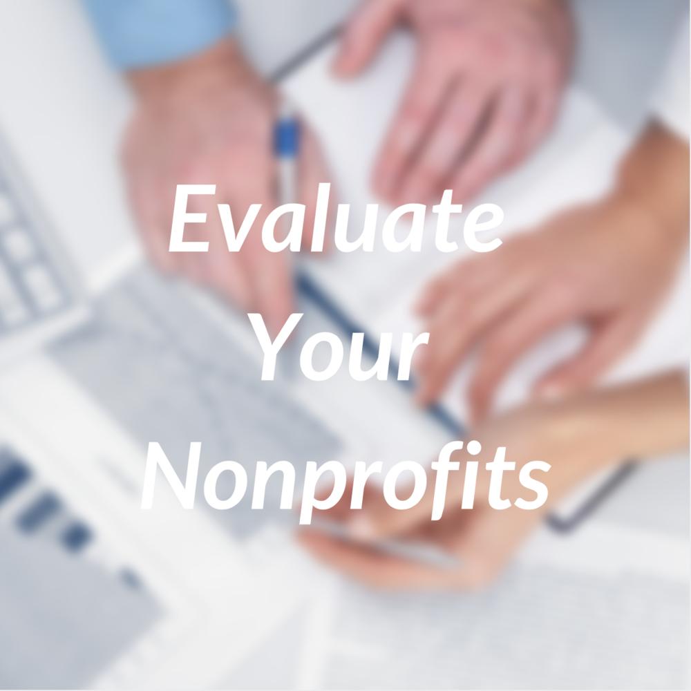 Evaluate Your Nonprofits