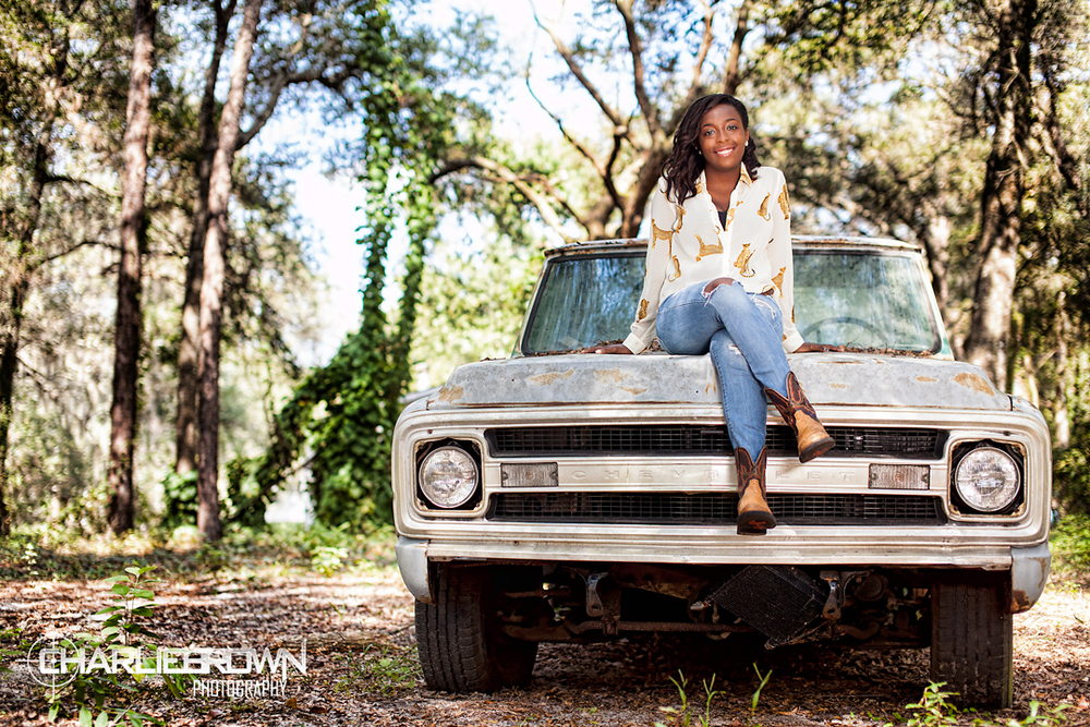 Old Truck Senior Portrait Inverness,FL