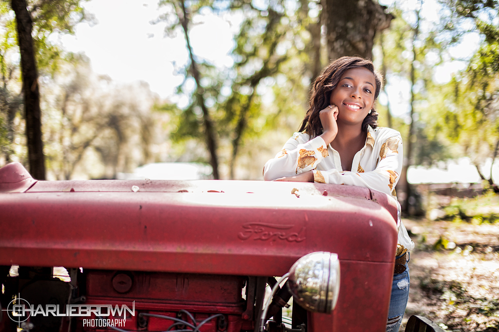 Farm Tractor Senior Session Portrait Photography Citrus County,FL