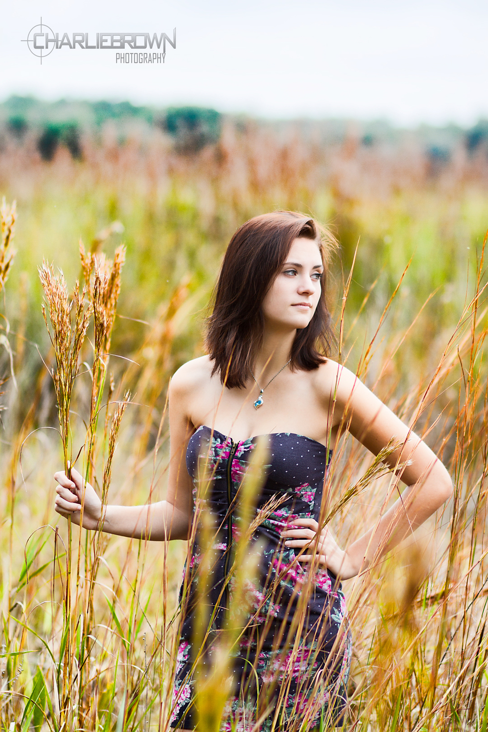 Outdoor Senior Portrait Session Tall Grass Citrus County