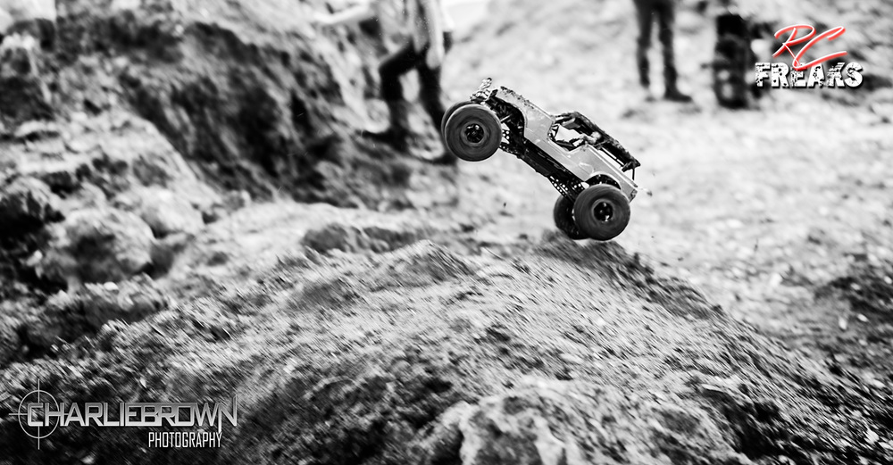 RC Crawler Getting Big Air Jump