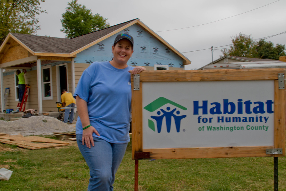 Director Michelle Davis manages the site of Casey Burd's home. Davis works with Habitat partner families to help create affordable housing that promises a better future.