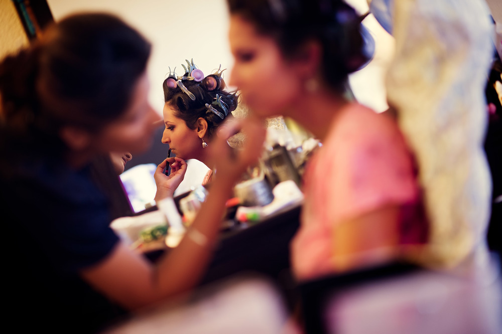 Bride getting ready Bay area Indian wedding photographer