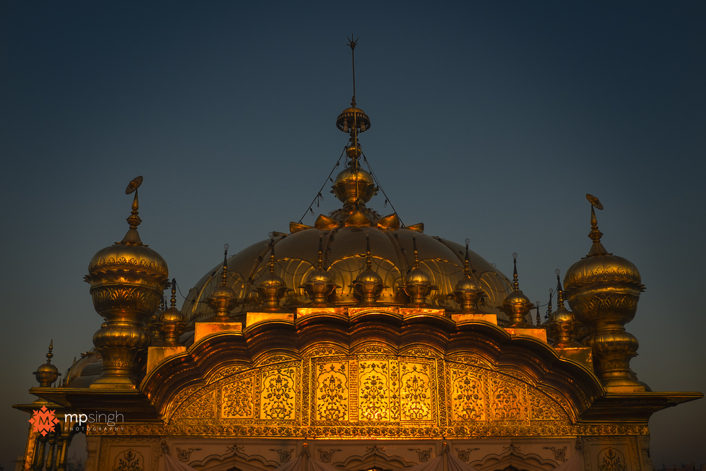 The main dome glowing with the rays of rising sun