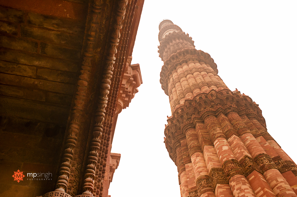 View from the bottom of the Minar