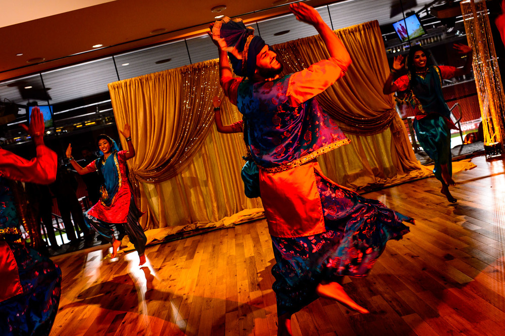 Bhangra Performance at Indian wedding