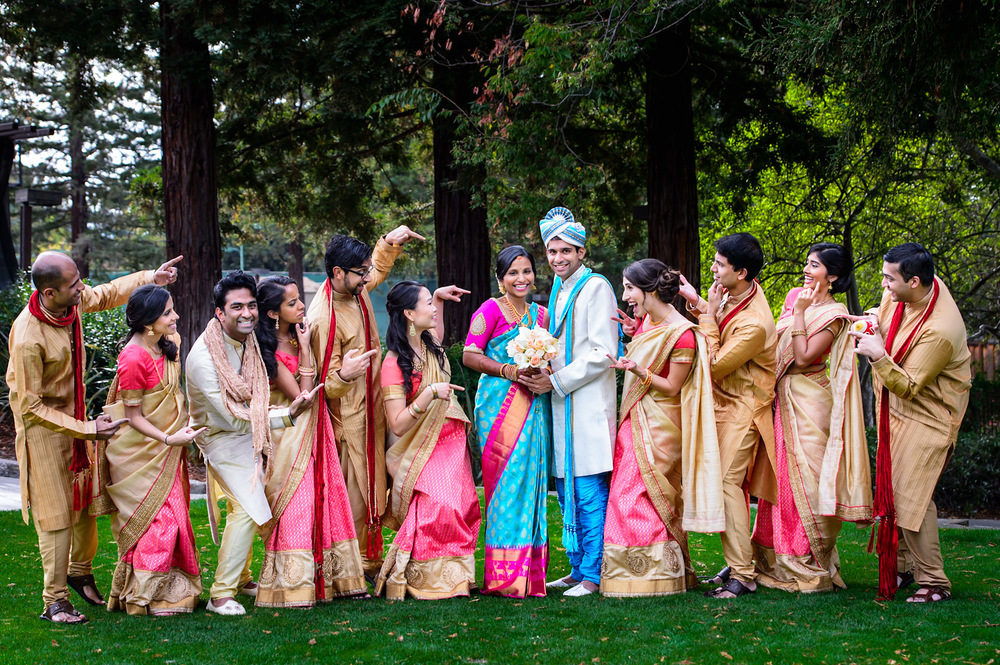 Indian Bridal party First look First look Crow Canyon Country Club Danville
