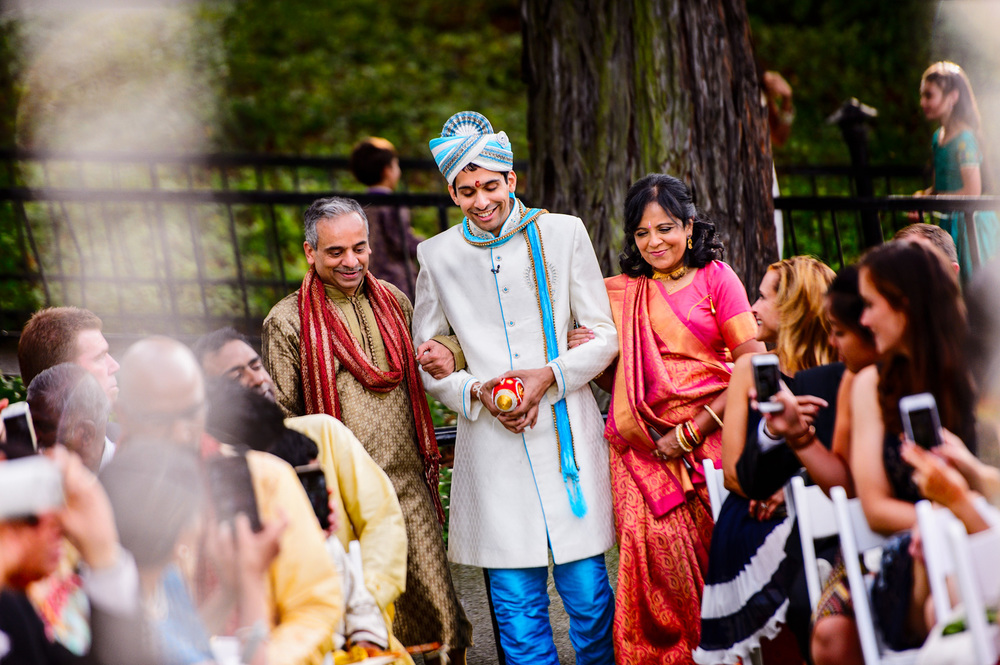 Groom Groom walking down the aisle Crow Canyon Golf Country Club Danville