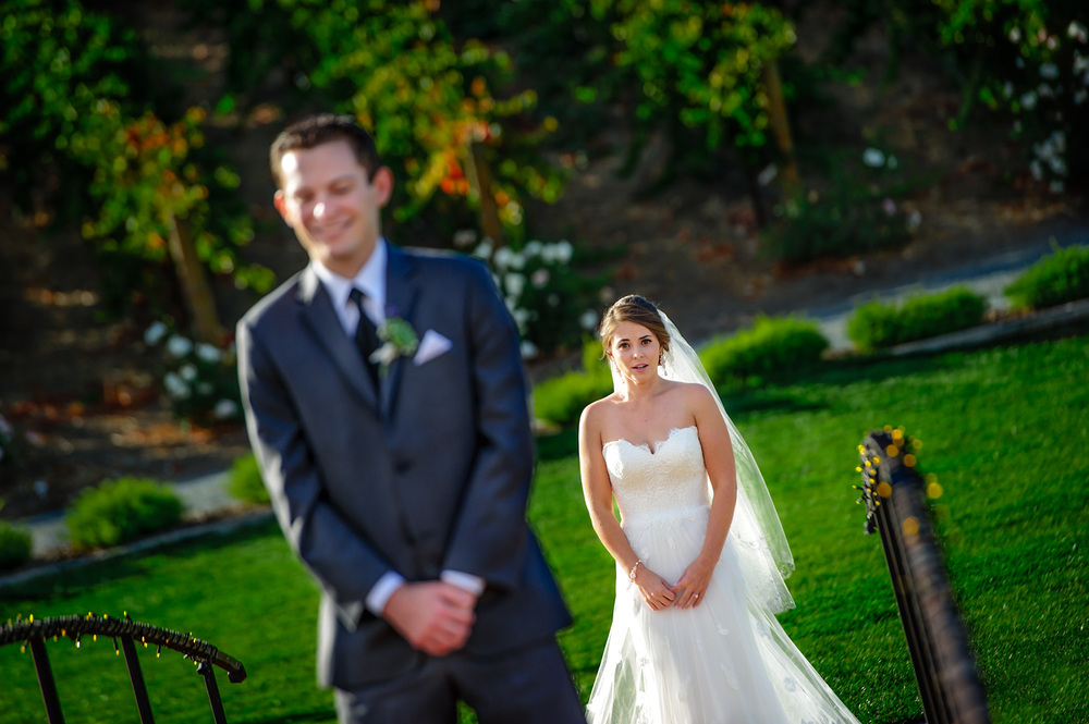 First look Bay area wedding