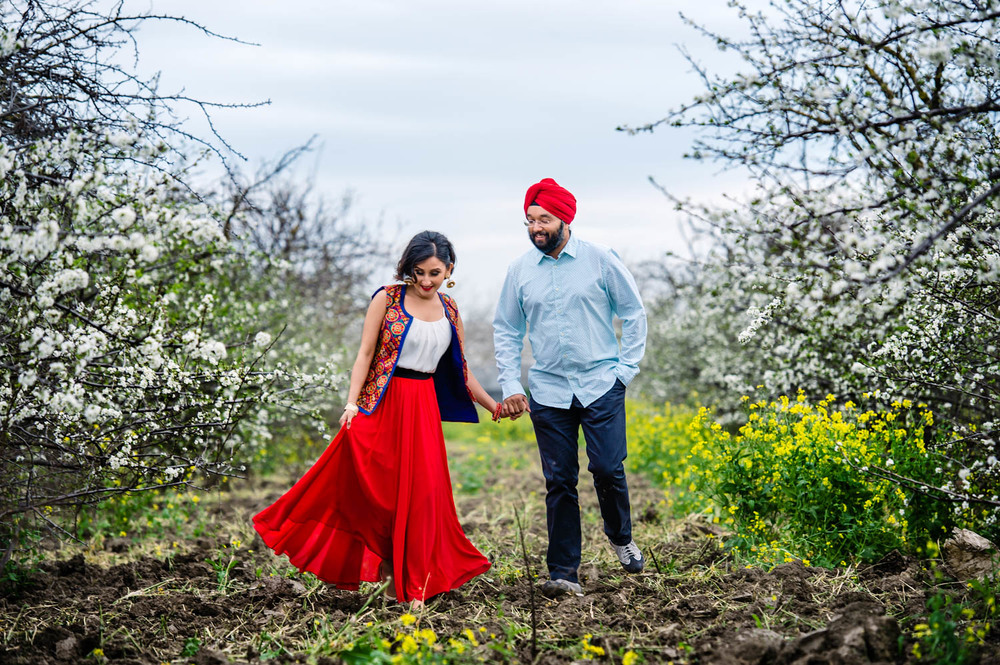 Bay area spring engagement session