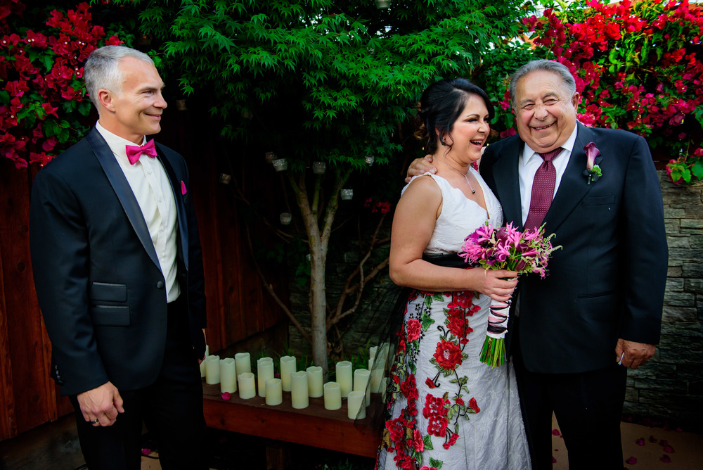Intimate backyard bay area wedding