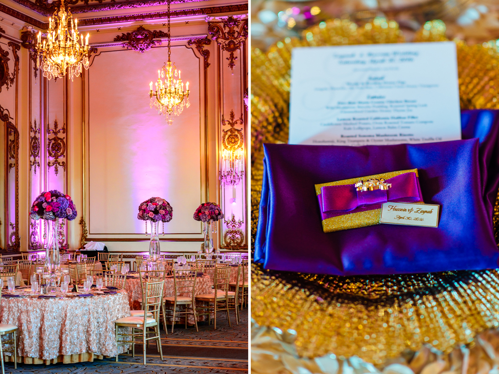 reception decor by Shakor Decor Fairmont San Francisco