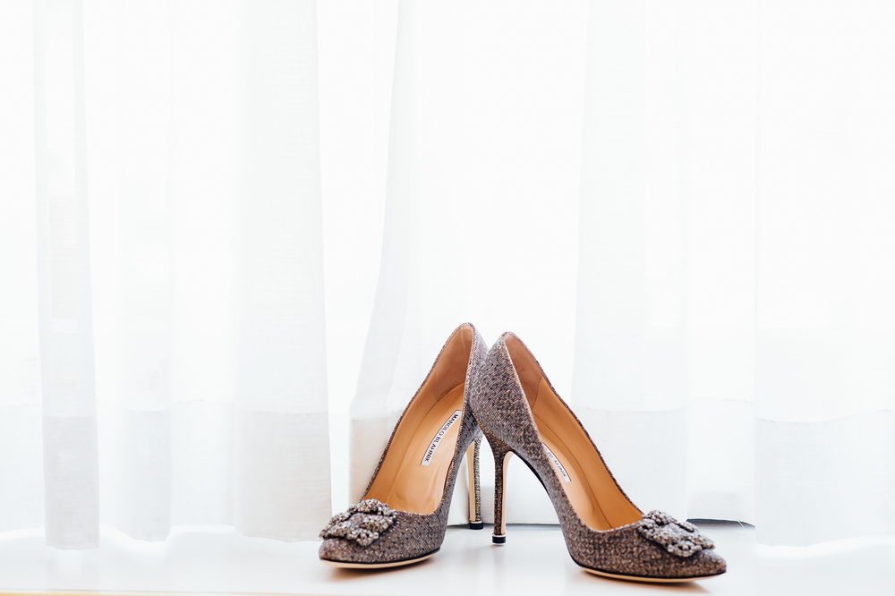 Manolo Blank wedding shoes