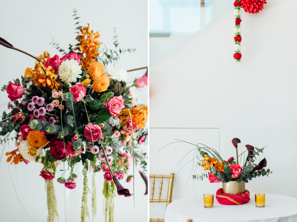 beautiful orange and red indian wedding decor