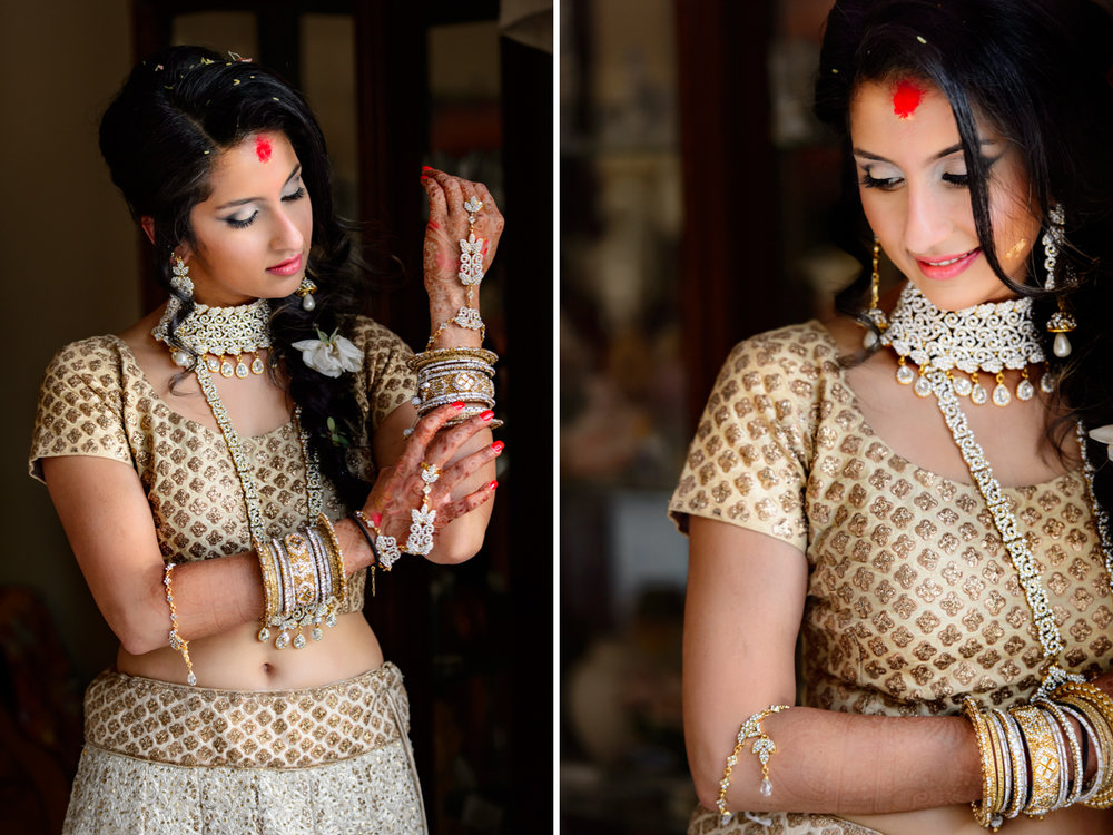 bride at her Sangeet