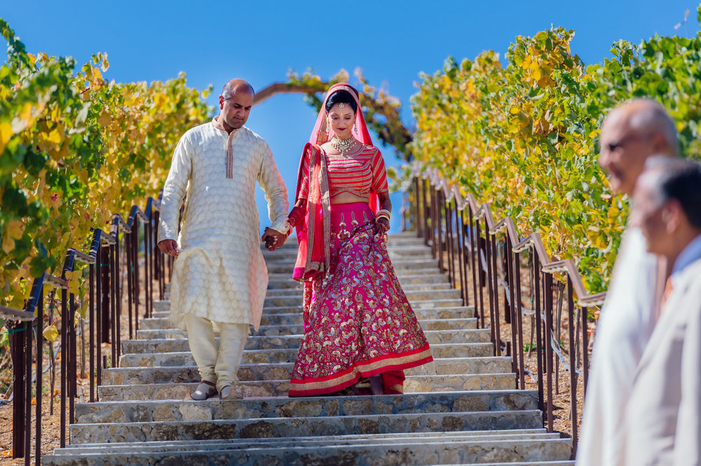 ndian Hindu wedding at Nella Terra Cellars