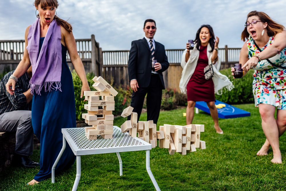 Jenga at wedding Fearless photographer