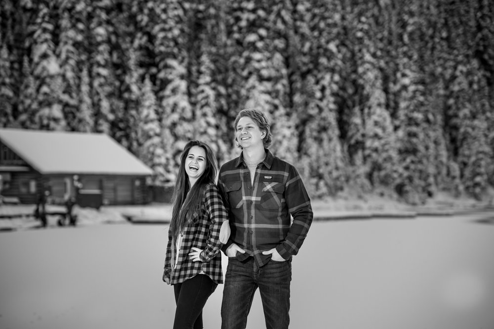 Winter engagement shoot Banff National park