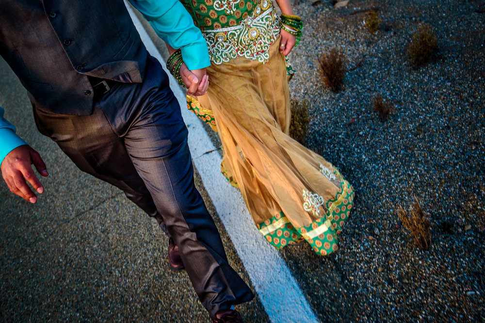 Indian Engagement shoot Altamont Pass Wind Farm
