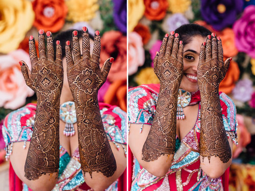 LILLY& HARSH - A COLORFUL MEHNDI CEREMONY