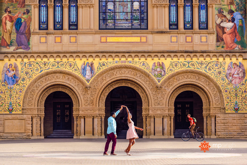 AN ENGAGEMENT SHOOT AT STANFORD UNIVERSITY  - ANITHA & RAVI