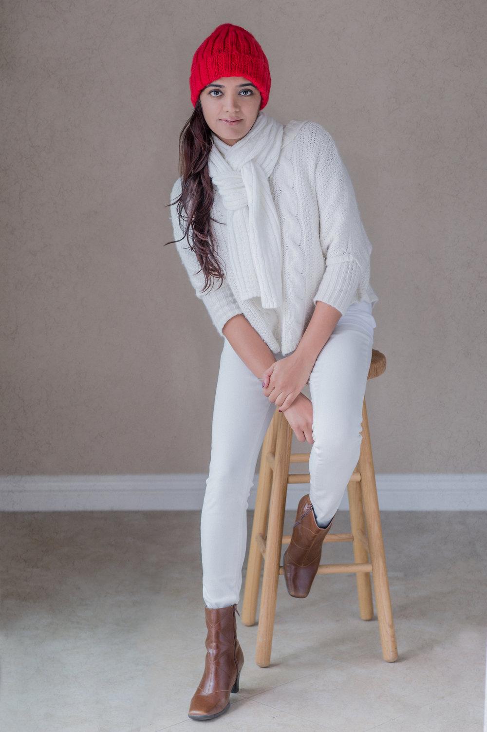 Priya - One of my favorites model is Priya, my wife.