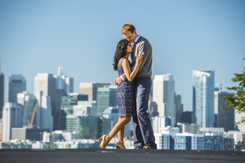 Maya + Craig - An engagement shoot at Potrero Hill and Bakers Beach San Francisco