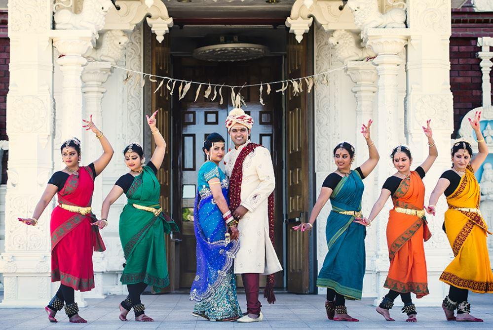 Pushkar & Divya's Hindu Wedding - At Livermore Temple by MP Singh Photography