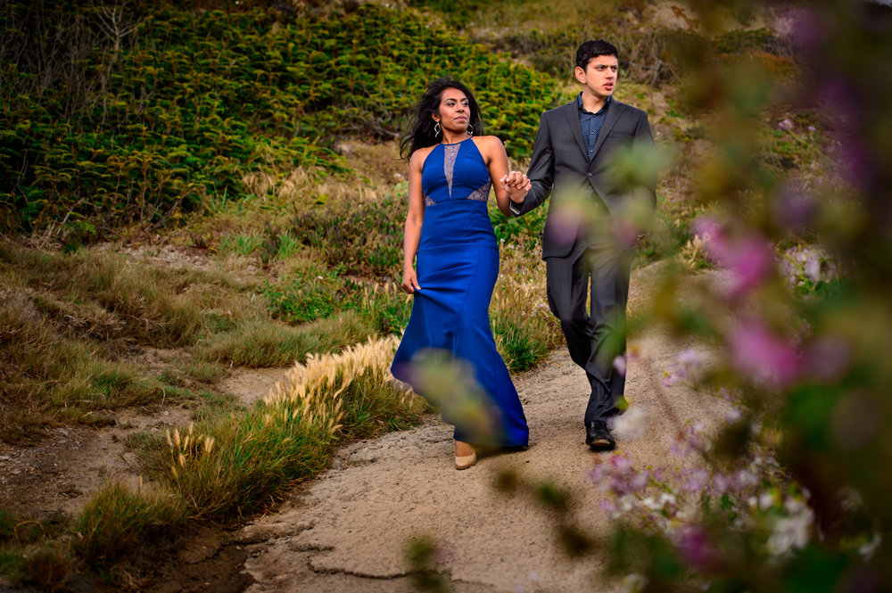 Indian Engagement Shoot Sutro Baths San Francisco