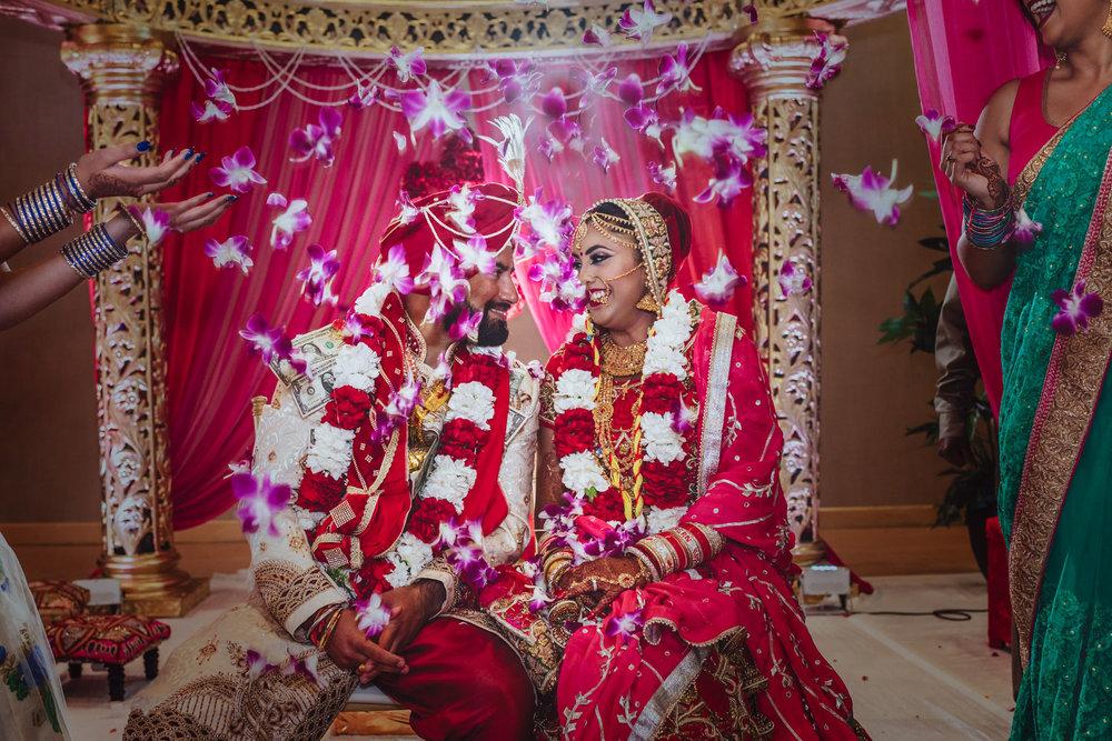 Indian Wedding Ceremony Flowers Throw