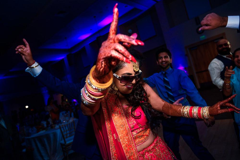 Indian Bride Dancing