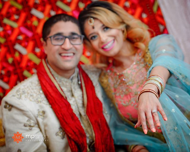 Engaged! Navreen & Rahul, @navreen24 & @haaaayrahully  #shesaidyes #engaged #coupletobe  MUA @beautybyroyaa . #engagementring #ring #mpsinghphotography #bayareaweddingphotographer #phulkari