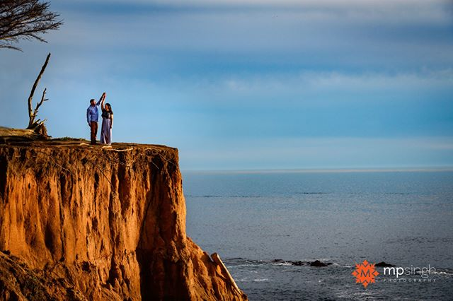 In the lap of nature... @teressa10 & @pjsandhu , getting married this week.  #p&tee #engaged #shesaidyes #coupleshoot #eshoot #experiencehmb #halfmoonbay #mpsinghphotography #nikonusa #nikonnofilter #nikonlove