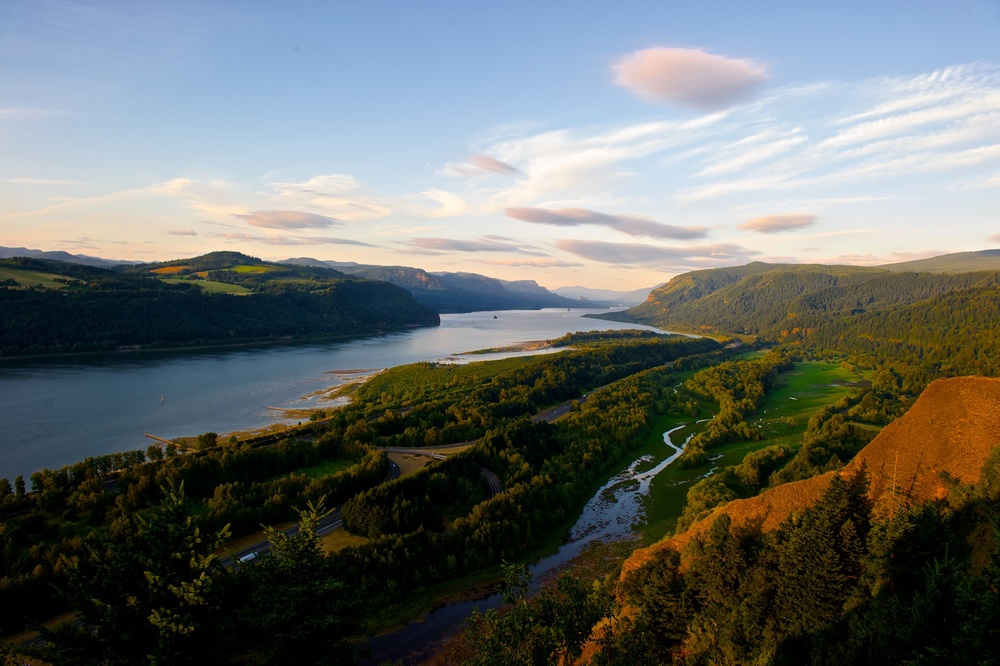 The Columbia River and Gorge as seen from Crown Point, August 2011.