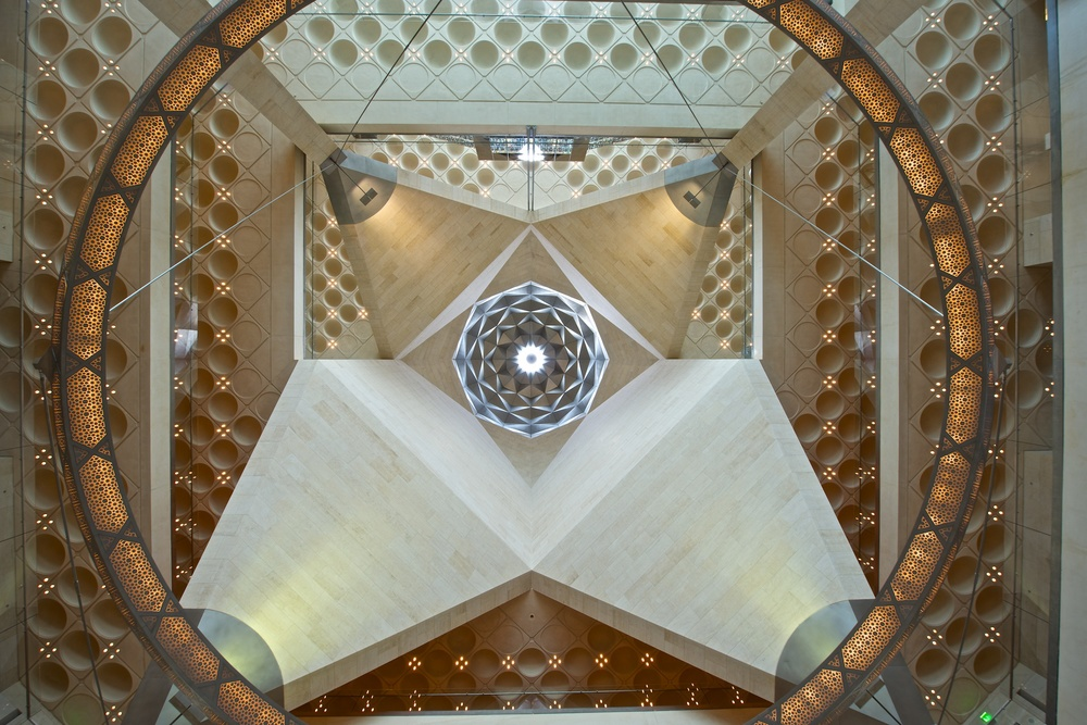 Ceiling at the Museum of Islamic Art in Doha, Qatar, April 2012.