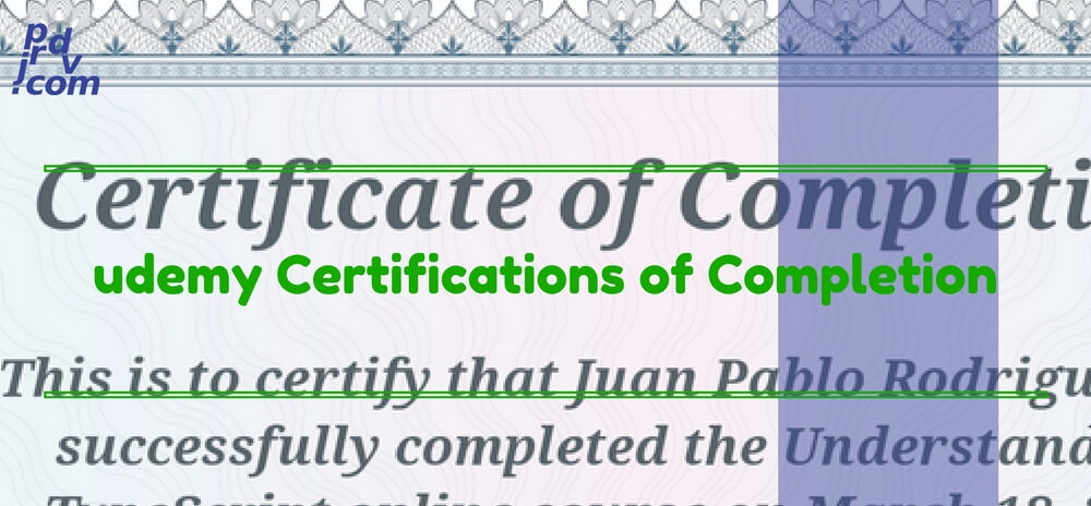 Udemy Certifications Of Completion Curriculum Vitae Juan Pablo