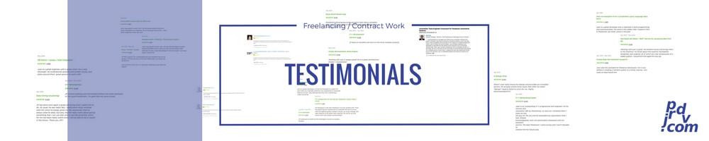 Juan Pablo Rodriguez DV Freelancing / Contract Work Client Testimonials