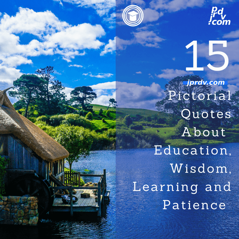 15 Pictorial Quotes About Education Wisdom Learning And Patience