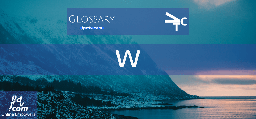 W (jprdvTheCorner Glossary)