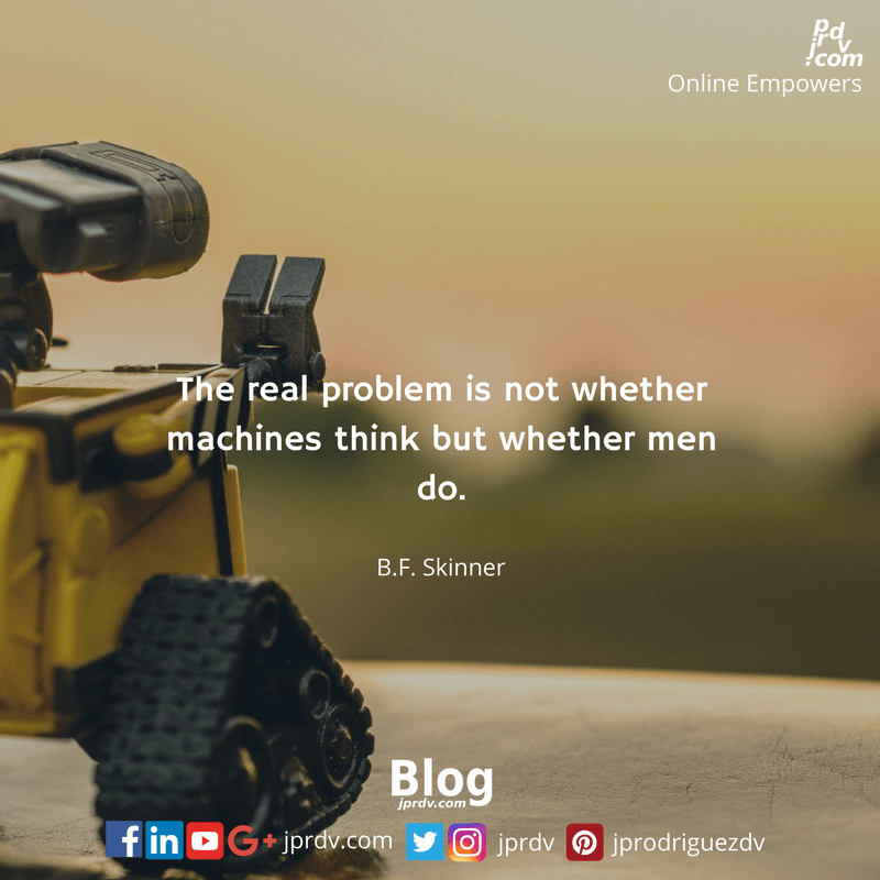 The real problem is not whether machines think but whether man do