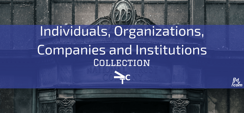 Individuals, Organizations, Companies and Institutions jprdvTheCorner Collection