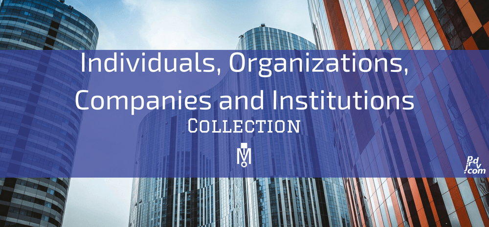 Individuals, Organizations, Companies and Institutions Magnobusiness Collection