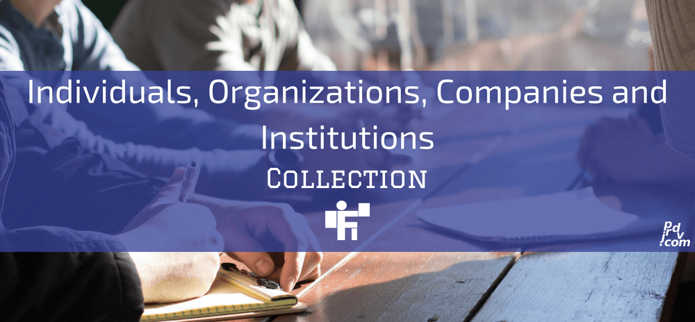 Individuals, Organizations, Companies, and Institutions Freelanstyle Collection